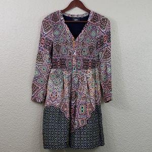 Maeve NWOT Amethyst Tiled Shirt Dress